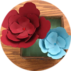 Photos of Student Work, paper flowers